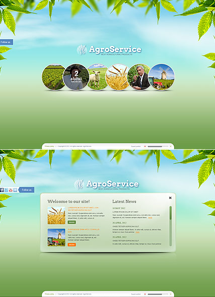 Agro Service, HTML5 template