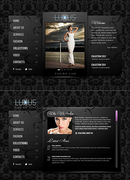 Luxus Fashion, HTML5 template