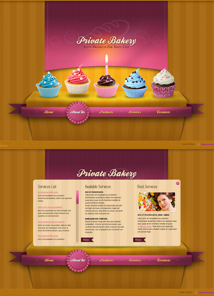 Private Bakery, HTML5 template