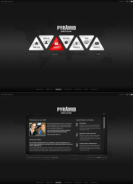 Pyramid Business, HTML5 template