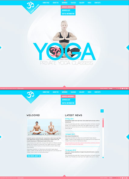 yoga classes html5 template id 300111379