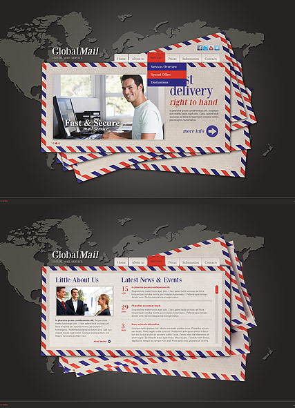 Global Mail, HTML5 template