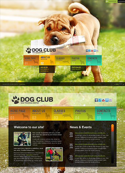 Dog Training, HTML5 template