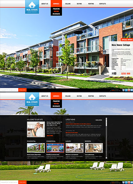 Real Estate, HTML5 template