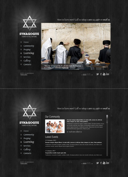 Synagogue, HTML5 template