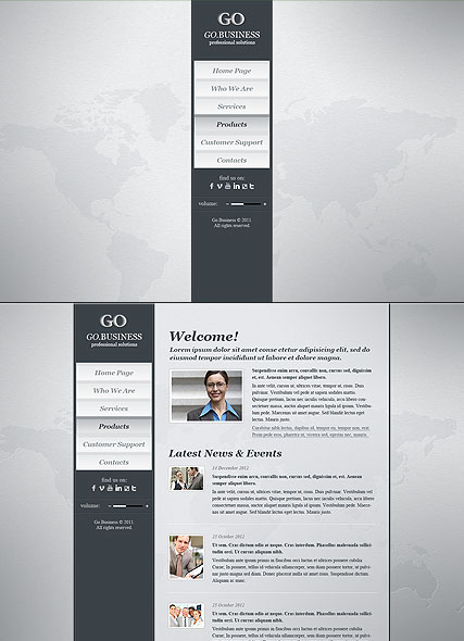Go Business, HTML5 template