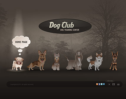 Dog Club, HTML5 template