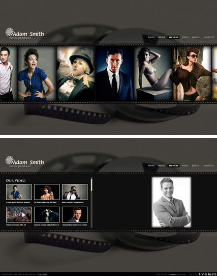 Producer, HTML5 Photo and Video Gallery Admin template