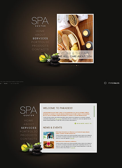 spa salon html5 template id 300111415