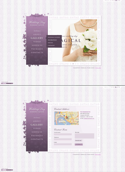 Wedding planer, HTML5 Photo and Video Gallery Admin template