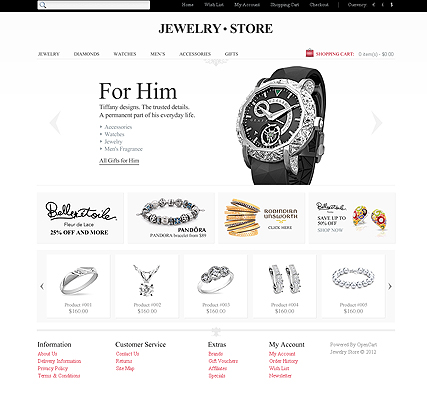 Jewelry Store, OpenCart template