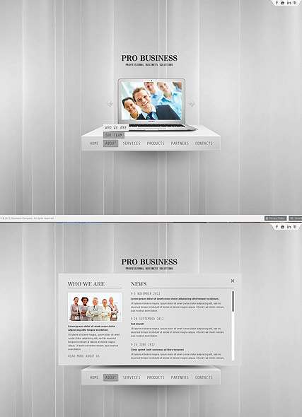 Pro Business, HTML5 template