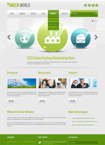 Green energy v2.5, Joomla template