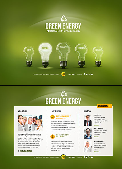 Green Energy, HTML5 template