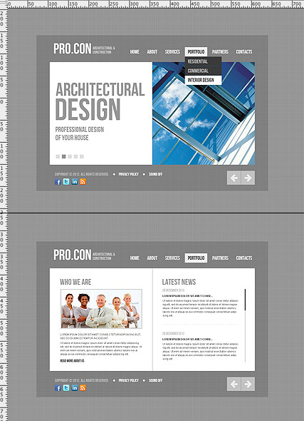 Architectural, HTML5 template