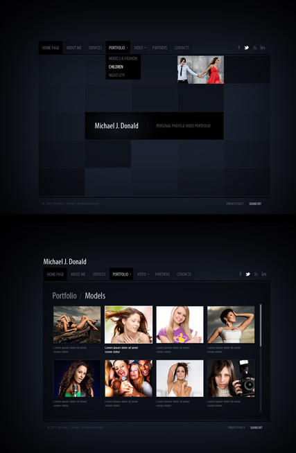 Name: Black folio - Type: HTML5 Gallery Admin - Item number:300111466