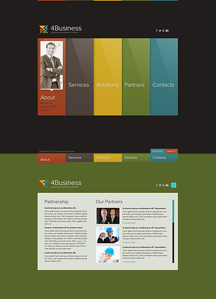 Color Business, HTML5 template