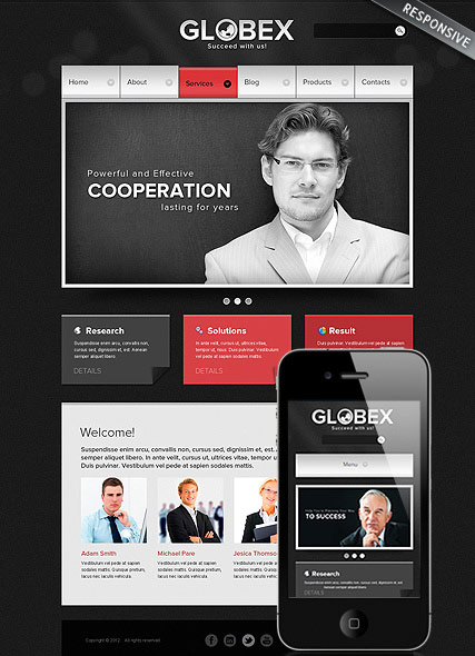 Global Business, Wordpress template