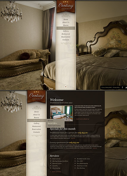 Hotel, HTML5 template