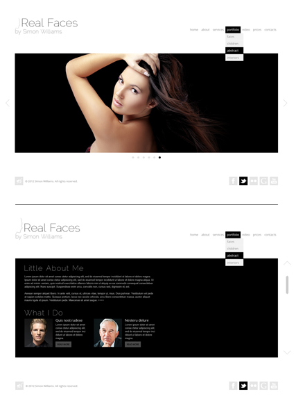 Real Faces, HTML5 Photo and Video Gallery Admin template