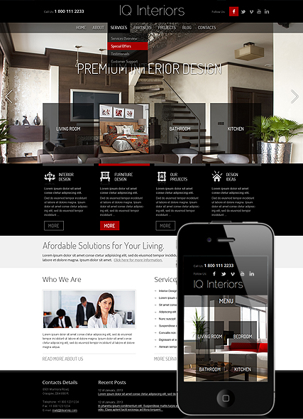 Interior Design, Wordpress template