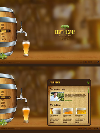Beer Company, HTML5 template