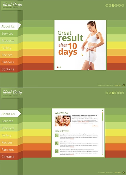 Weight Loss, HTML5 template
