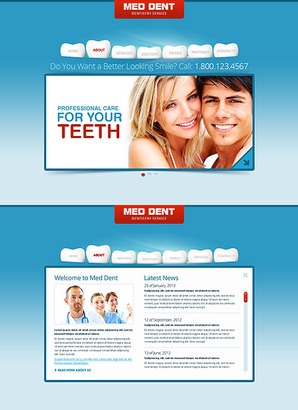 Dentistry, HTML5 template