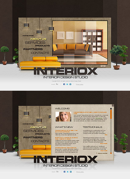 Interior Studio, HTML5 template