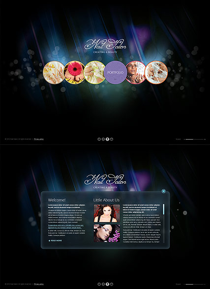 Nail Salon, HTML5 template