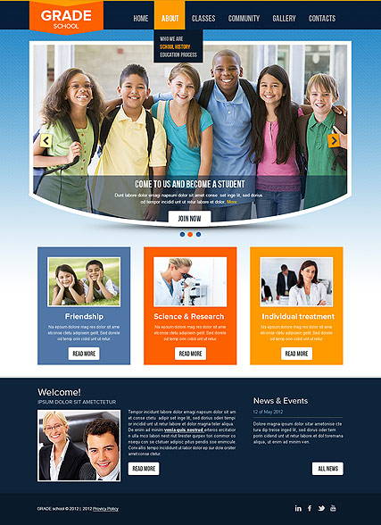 College, HTML template