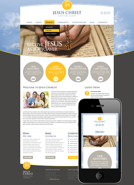 Christian Church, Wordpress template
