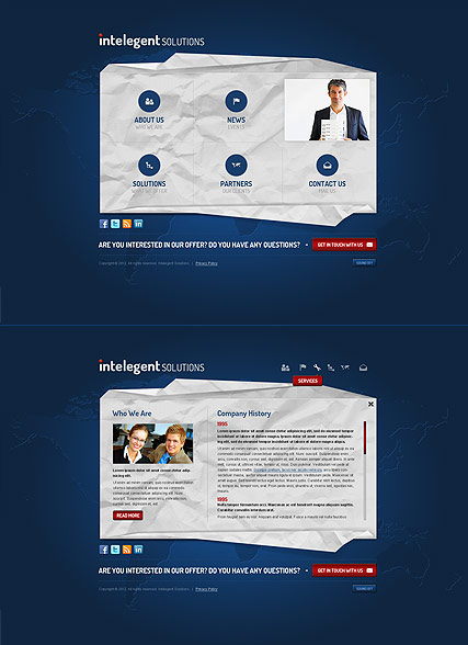 Business Solutions, HTML5 template