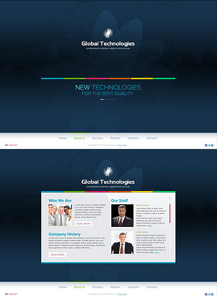 New Technology, HTML5 template