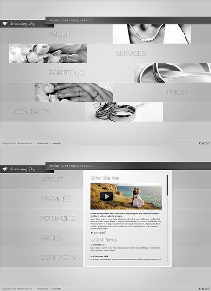 Wedding Day, HTML5 template