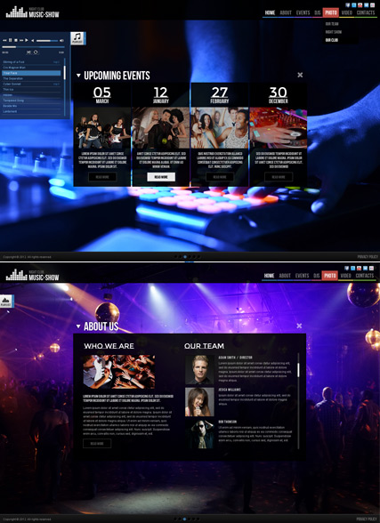 Music Show, HTML5 Photo and Video Gallery Admin template