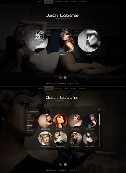 Photo portfolio, HTML5 Photo and Video Gallery Admin template