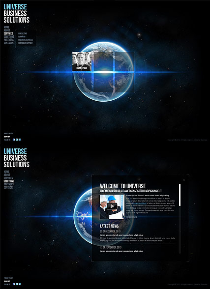 Universe Business, HTML5 template