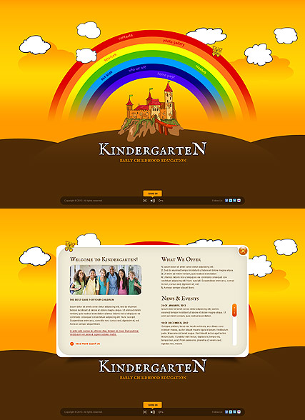 Kindergarten World, Easy flash template