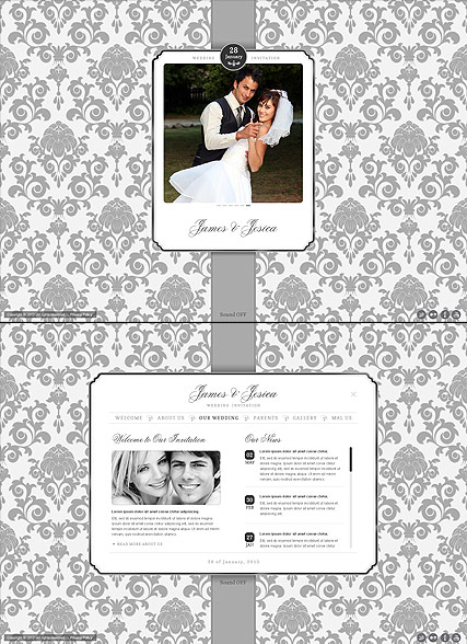 Wedding Invitation, HTML5 template