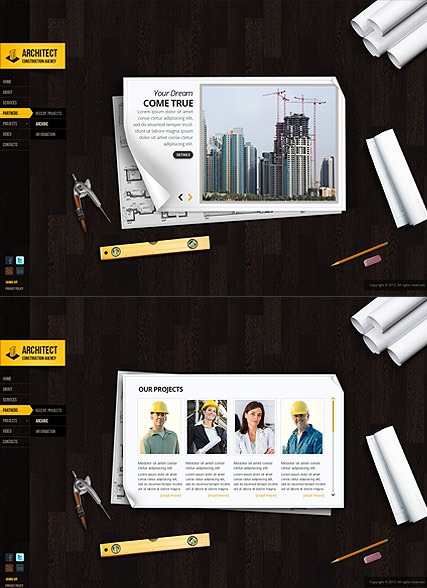Name: Architecture Design - Type: HTML5 template - Item number:300111580