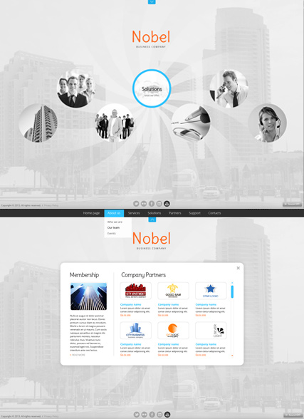Business Circles, HTML5 template