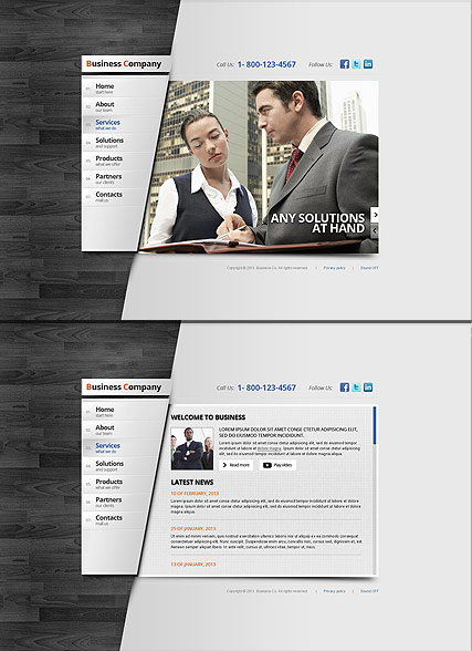 Business Area, HTML5 template