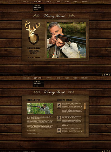 Hunting Ranch, HTML5 template