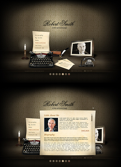 Writer, HTML5 template