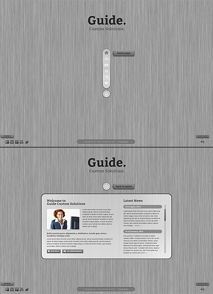 Business Guide, HTML5 template