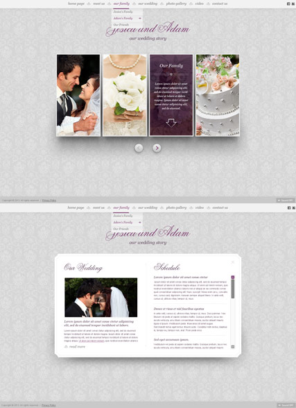 My Wedding, HTML5 Photo and Video Gallery Admin template