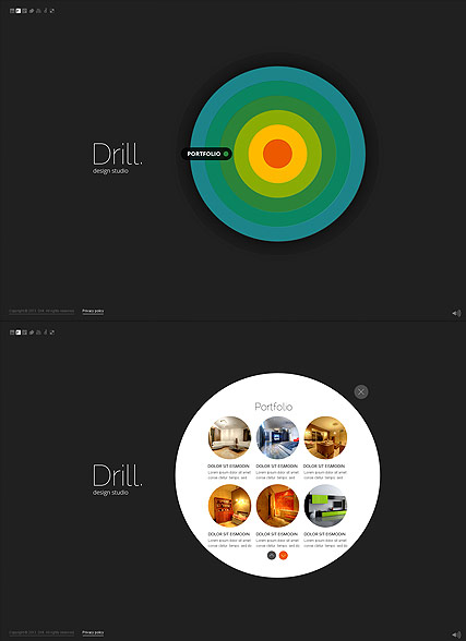 Circle Design, HTML5 template