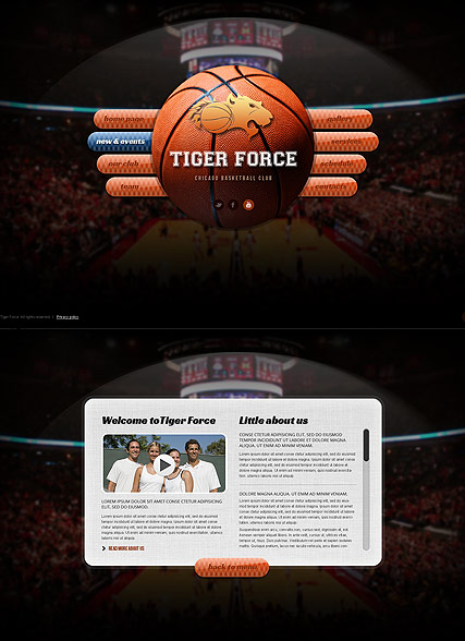 Basketball Game, HTML5 template