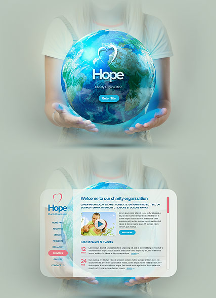 World Charity, HTML5 template